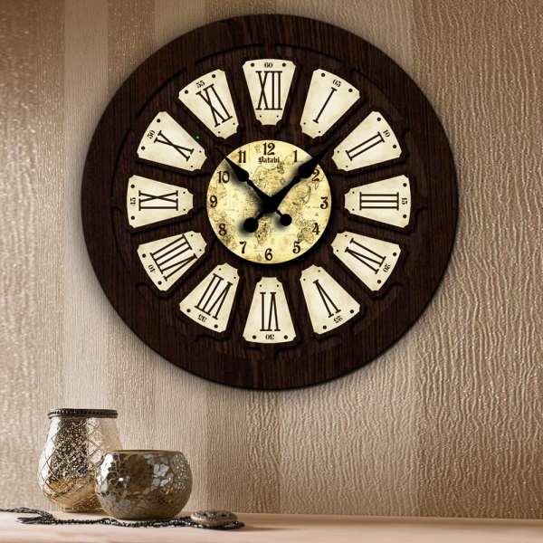 ساعت دیواری بتابی مدل آپاما کد 1078